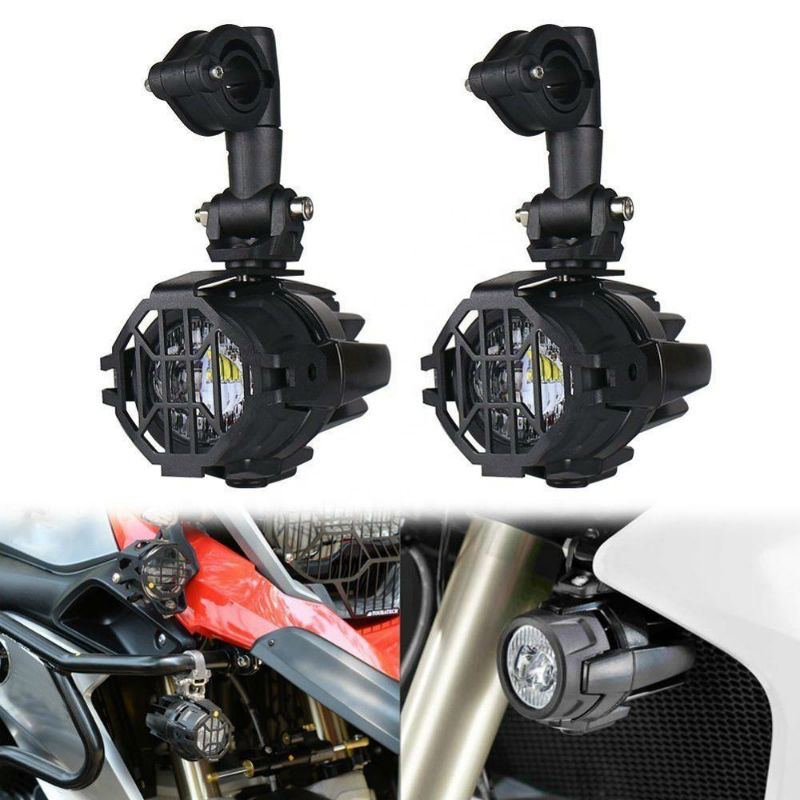 2PCS 40W LED Auxiliary Lamp 6000K Super Bright Fog Driving Light Kits LED Lighting Bulbs DRL for Motorcycle BMW K1600 R1200G