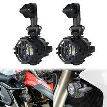 Lámpara LED auxiliar de 40W para conducción, kit de luces LED de conducción antiniebla superbrillantes de 6000K, bombillas DRL para motocicleta BMW K1600 R1200G, 2 uds.