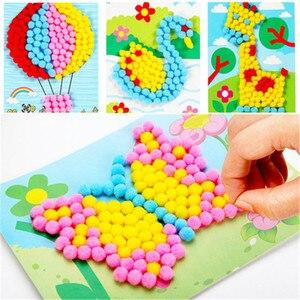 8 моделей, детские игрушки, сделай сам, шарики для волос, подарки для девочек, креативная живопись, клейкая бумага, живопись, детский сад, мате...