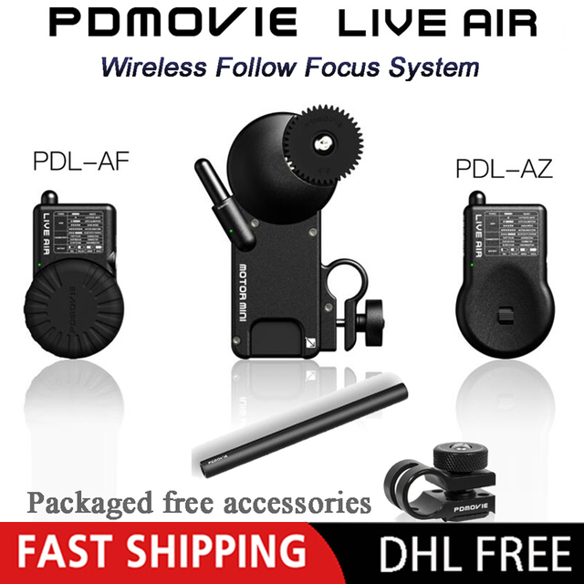 PDMOVIE לחיות אוויר 2 Bluetooth Wireless בקרת מערכת עבור Zhiyun מנוף 2 3 DJI ללא מעצורים S DSLR מצלמה עדשה