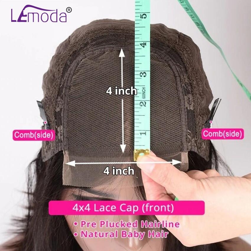 Hc61a2e7b3ab74be1a9f0cf66225b372by 26 Inch Body Wave Wig Malaysian 4x4 Closure Wig Preplucked Natural Human Hair High Ratio Lemoda 150% Remy Hair Lace Closure Wig