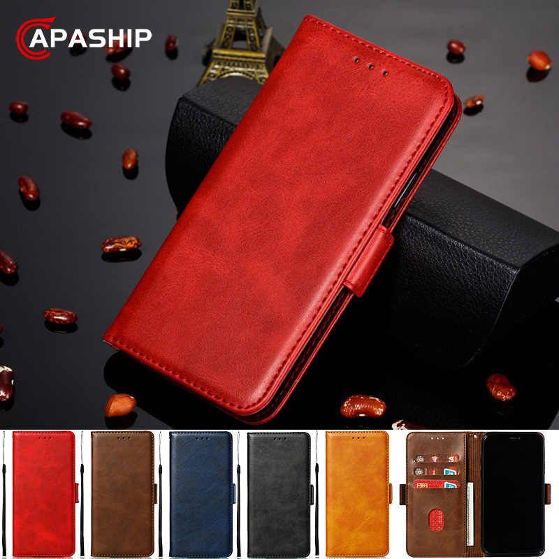 Luxury Cowhide Leather <font><b>Flip</b></font> <font><b>Case</b></font> For Huawei <font><b>Honor</b></font> 8 <font><b>9</b></font> 10 <font><b>lite</b></font> 6X 6A 7X 8A Y5 Y6 Y7 Y9 2019 Retro Wallet Cover Honor10lite <font><b>Cases</b></font> image