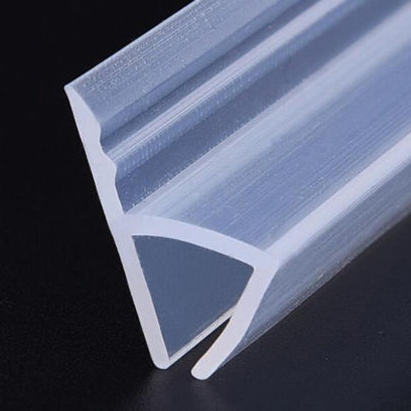 Shower Transparent Door Window H Shaped Sealing Strip Curved Rubber Plastic