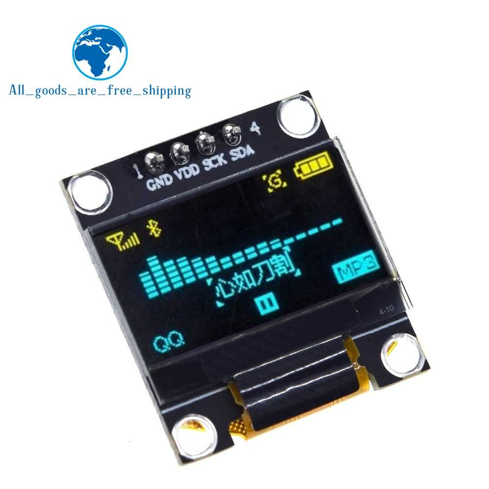 0.96 inch oled IIC Serial White OLED Display Module 128X64 I2C SSD1306 12864 LCD Screen Board GND VDD SCK SDA for Arduino