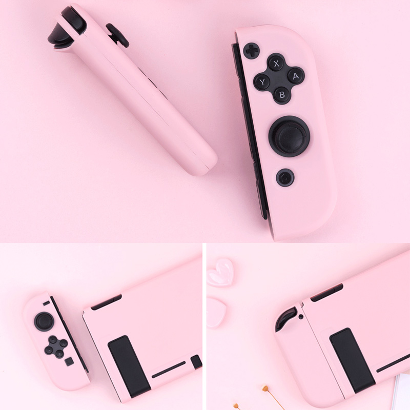 Image 4 - For Nintendo Switch Case Joy Con Controller Full Cover Shell Colorful Pink Hard Housing Shell For NintendoSwitch Game ConsoleCases   -