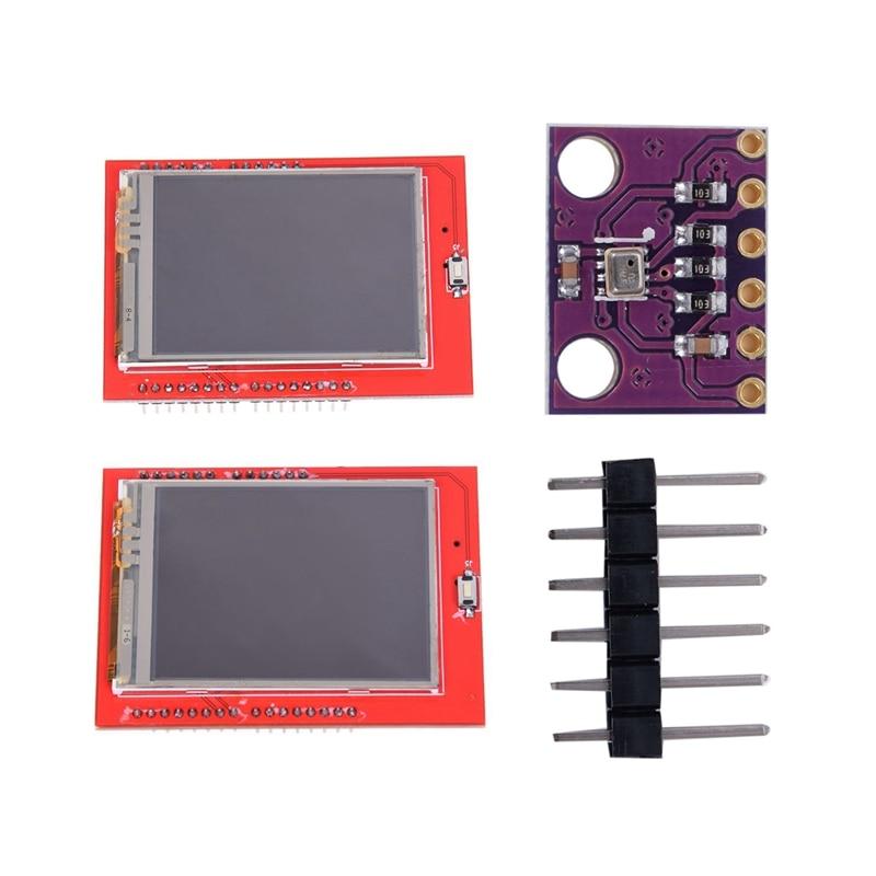 2 Pcs Parts For Arduino: 1 Pcs 2.4 Inch TFT LCD Display Shield Touch-Panel ILI9341 240X320 & 1 Pcs BMP280 Pressure Sensor Module
