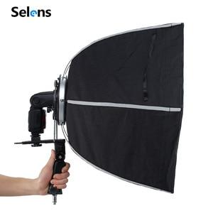 Image 5 - Selens Fotografische Zachte Doos 50 Cm Hexagon Softbox Met L Vorm Adapter Ring Photo Studio Accessoires
