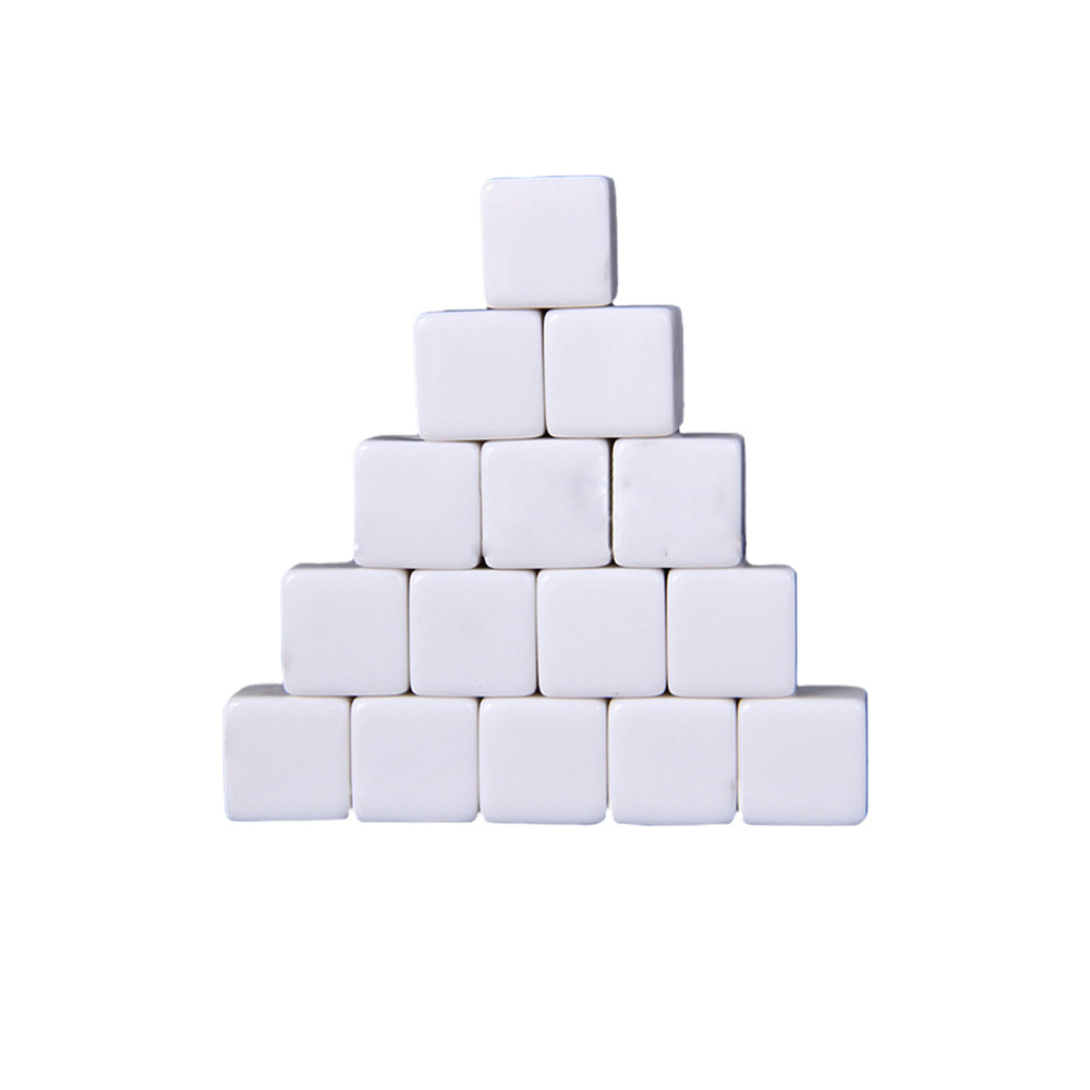 30Pcs <font><b>16mm</b></font> <font><b>Blank</b></font> <font><b>Dice</b></font> Six Sides Square Blocks Funny DIY <font><b>Dice</b></font> Acrylic Cubes White image