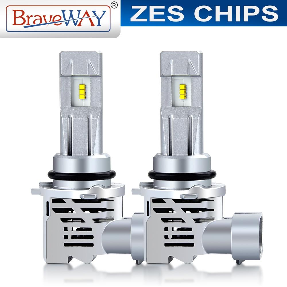 Braveway ZES Mini LED Car Headlight H4 H7 H11 H1 9005 9006 HB3 HB4 16000LM 6000K Auto LED Lamps Motorcycle Light Bulbs 12V