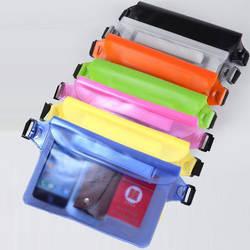 ПВХ Водонепроницаемый сумка на поясном ремне три запечатывания открытый плавательный Водонепроницаемый поясная сумка дрейфующие только