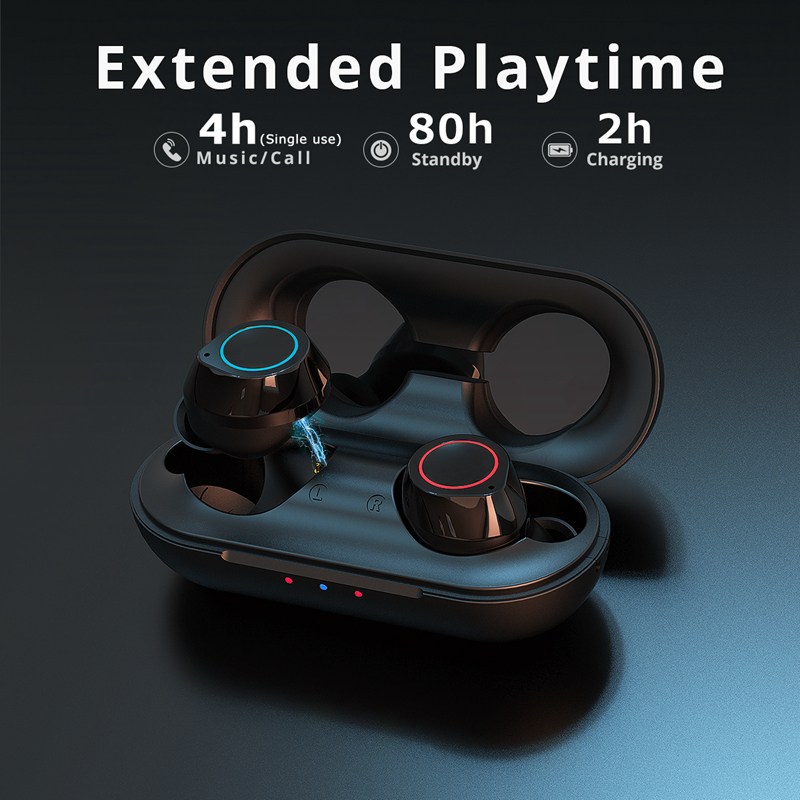 cheapest Langsdom TWS Bluetooth Earphones for Phone Sport True Wireless Earbuds Stereo Headset with Mic ecouteur sans fil