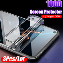 3Pcs 100D Protective Hydrogel Film For Huawei Honor 8x 8 9 10 Lite 20 Pro 10i 7a 7c Y7 Y9 2019 Screen Protector Film Full Cover(China)