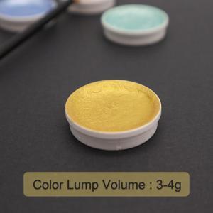 Image 4 - 12 renk metalik suluboya seti altın Pigment boya Waterbrush sanatçı boyama için Glitter su renk sanat malzemeleri