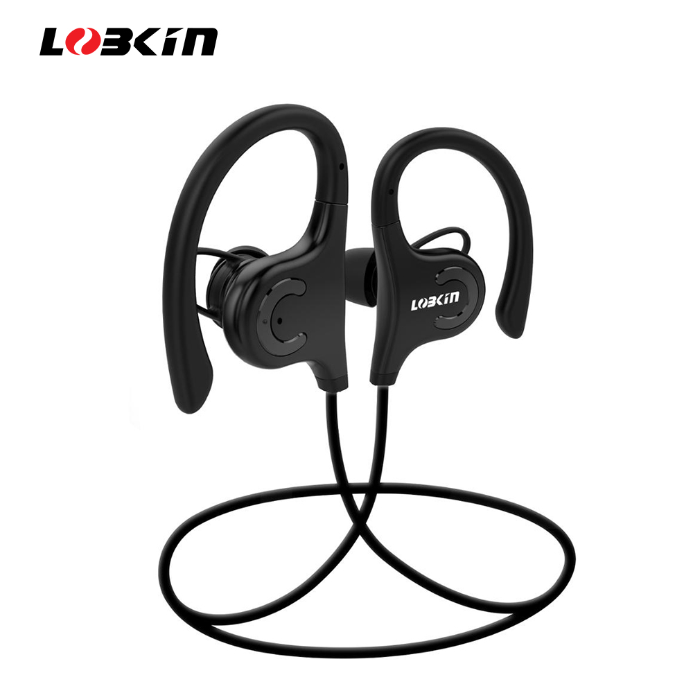 Lobkin <font><b>Bluetooth</b></font> Headphones Portable Wireless Earphones Sports Earbubs Headset With Mic IPX5 Waterproof 5 Hours Play Time image