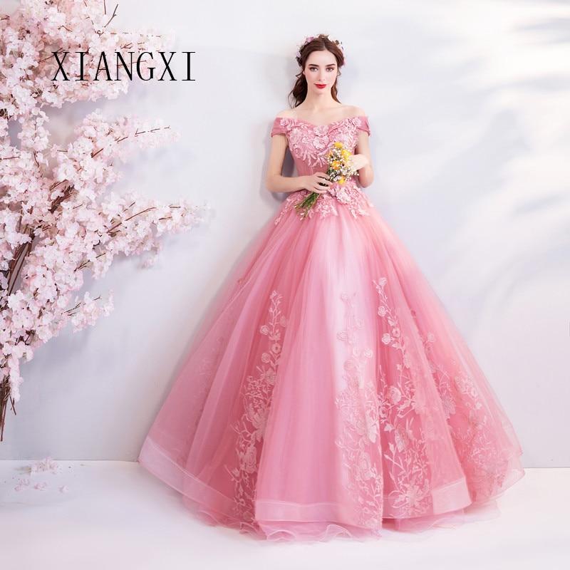 Charming Evening Dresses Off The Shoulder Floor Length Evening Dresses Long Prom Dress Formal Party Gowns Vestido De Festa Longo