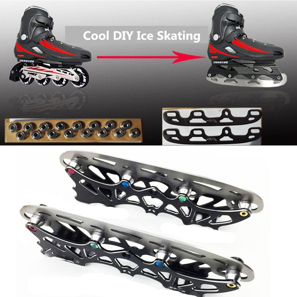 Roller Skates Ice Blade Stainless Steel Ice Hockey Knife Replaceable Ice Skates Full Multi Purpose Ball Blade Full Set