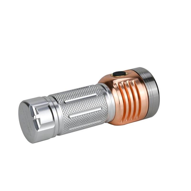 7 Astrolux MF01 Mini De Alumínio De Cobre * Campact SST20 5500LM Tipo C Recarregável Lanterna EDC 26650 21700 18650 Tocha lanterna - 2