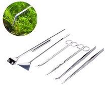 Tools-Sets Aquascaping-Kit Aquatic-Plant Tweezers Scissor Pet-Supplies Stainless-Steel