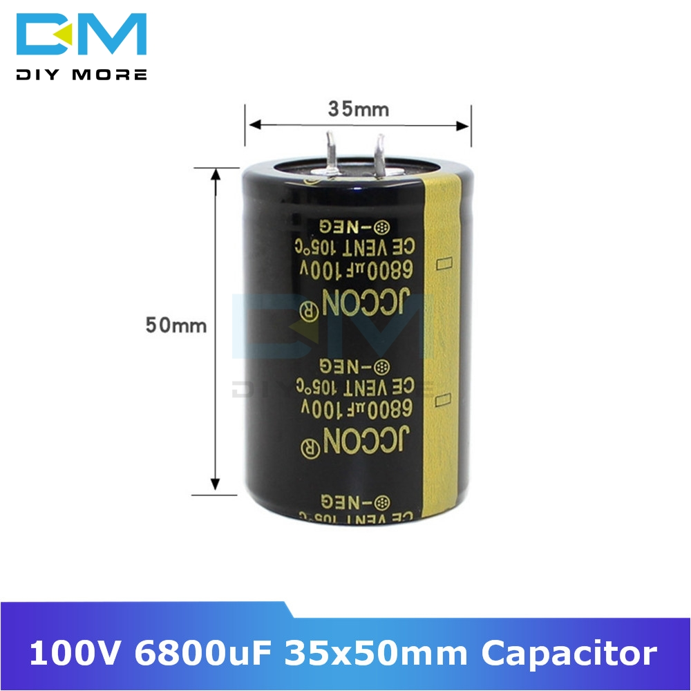 100V 6800uF 35x50mm 35X50 Aluminum Electrolytic Capacitor High Frequency Low Impedance Through Hole Capacitor Size 35*50mm