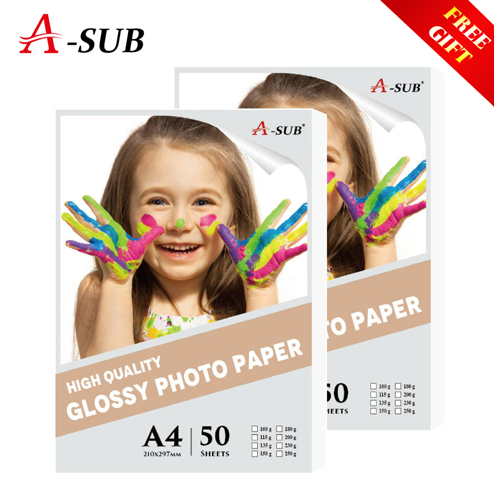 A4 Photo Paper 50sheets Inkjet Glossy waterproof photo paper For Inkjet Printer Wedding Photography