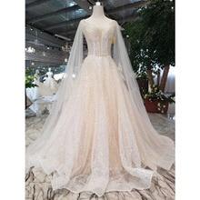 BGW HT42810 Bohemian Wedding Dress Simple Sleeve Shawl V neck Sleeveless Backless Handmade Beach Bridal Dress Wedding Gowns