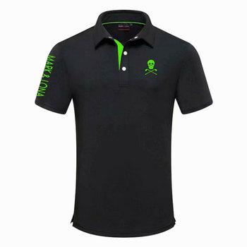 Nowy znak i LONA sportowe z krótkim rękawem t-shirt do golfa 4 kolory mężczyźni Golf odzież S-XXL w wyborze rozrywka koszulka golfowa tanie i dobre opinie HQBWill COTTON SILK Poliester Mikrofibra spandex Anty-pilling Anti-shrink Przeciwzmarszczkowy Oddychające Szybkie suche