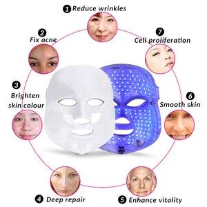 Image 2 - Masque Facial Led de 7 couleurs, Instrument pour les soins de la peau, outil pour rajeunir les rides, éliminer lacné, thérapie du visage