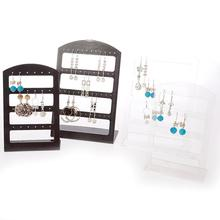 24/48 Holes Earrings Display Stand Holder Jewelry Show Rack Acrylic jewelry Organizer Necklace display earring holder