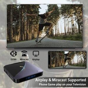 Image 3 - A95X F3 Android 9.0 Transpeed 8K procesor Amlogic S905X3 TV, pudełko 4K Youtube wifi 4GB 16GB 32GB 64GB światło RGB TV, pudełko