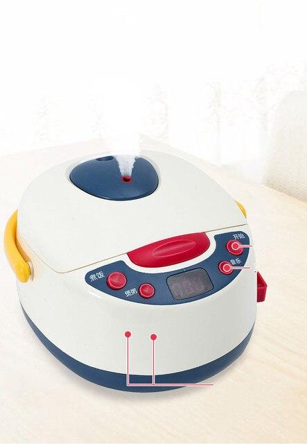 Simulation ustensiles de cuisine ensemble enfants cuisson cuiseur à riz cuisson Miniature nourriture vapeur filles cuisson jouets pour filles Juguetes Nina