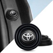 4Pcs Auto Tür Schalter Dämpfung Kissen Aufkleber Für Toyota Verso Prado Auris Corolla Avensis Sienna Yaris Avalon Camry