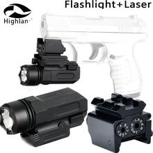 650nm 20mm Rail Mount Tactical Flashlight Mount Red Dot Laser Sight For Pistol Gun 1911 M9 Glock 19,20,17,21,22,23,30,31,32 5mw red laser gun grip w flashlight for 20mm rail black 3 x cr123a