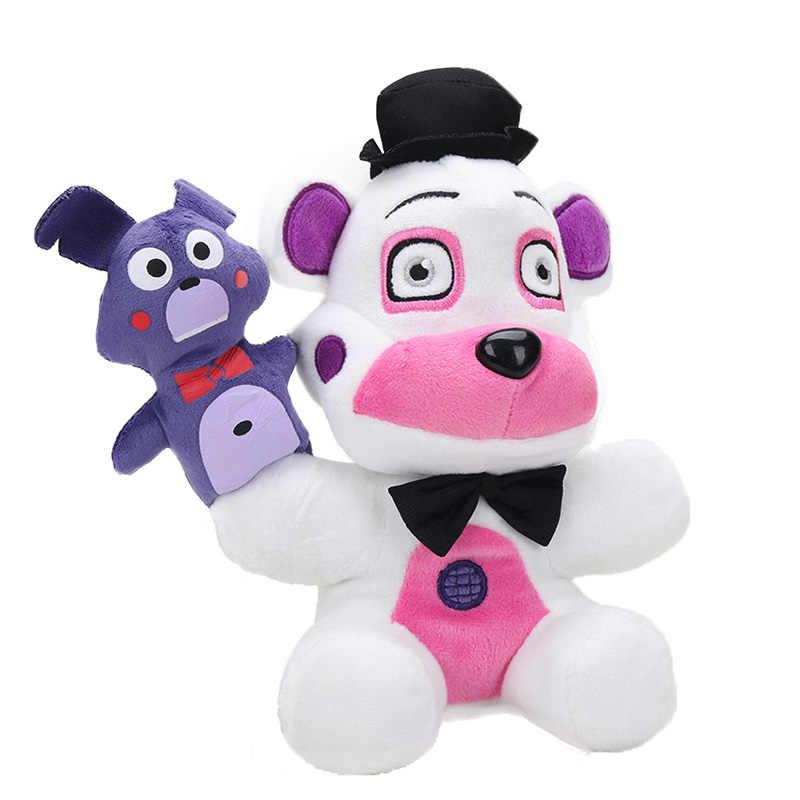 Fnaf brinquedos 20 cm cinco noites no freddy 4 freddy freddys fazbear chica urso pelúcia brinquedos boneca presentes para crianças
