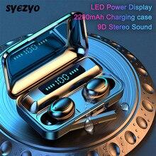 TWS F9 5 אלחוטי Bluetooth אוזניות ספורט Earbud 8D סראונד מגע מפתח מוסיקה אוזניות לxiaomi Huawei סמסונג Iphone