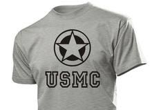 Camiseta de manga curta dos homens do hip-hop de 2019 usmc mit allied star nós dos selos da marinha do exército usmc
