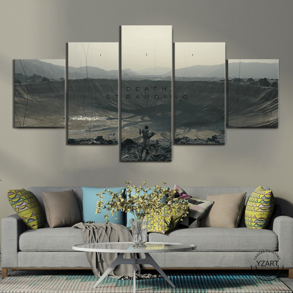 Death Stranding  HD Fantasy Art Wall Pictures Shooting Games Artwork Canvas Paintings for Home Decor Wall Art 3