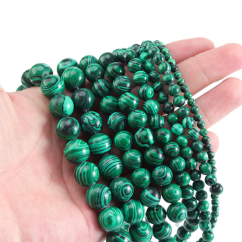 """Malachite Green Jades Beads 15""""Strand 4/6/8/10/12mm Round Loose Stone Beads For Jewelry Making Diy Bracelet Charms Accessories wholesale faceted green chalcedony jades stone beads round loose spacer bead for jewelry making diy bracelet 15 4 6 8 10 12mm"""