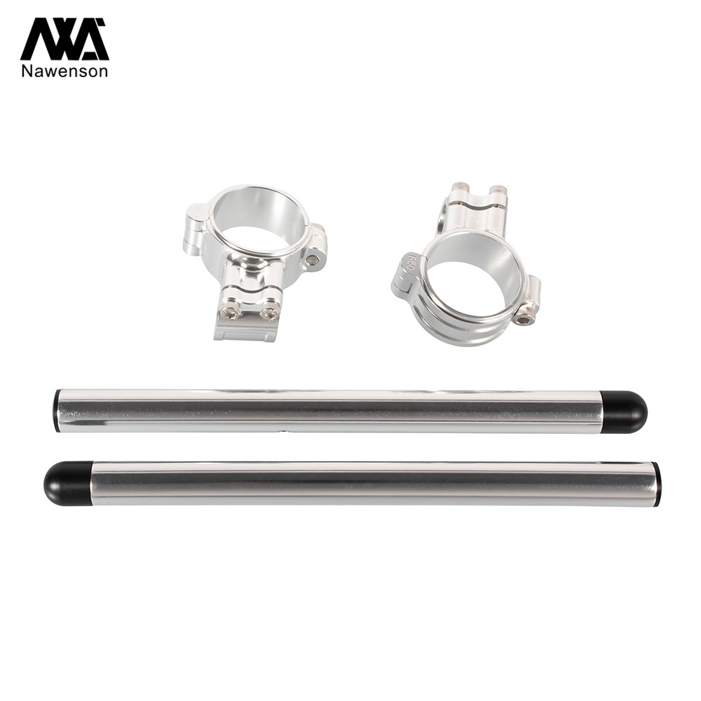 """72 For Honda CR125 1974-1978 NX125 1989-1992 35mm Motorcycle Clip-on Handlebars With 7/8"""" Tubes For CL450/CB500 72-74 CB750K 72-78 (4)"""