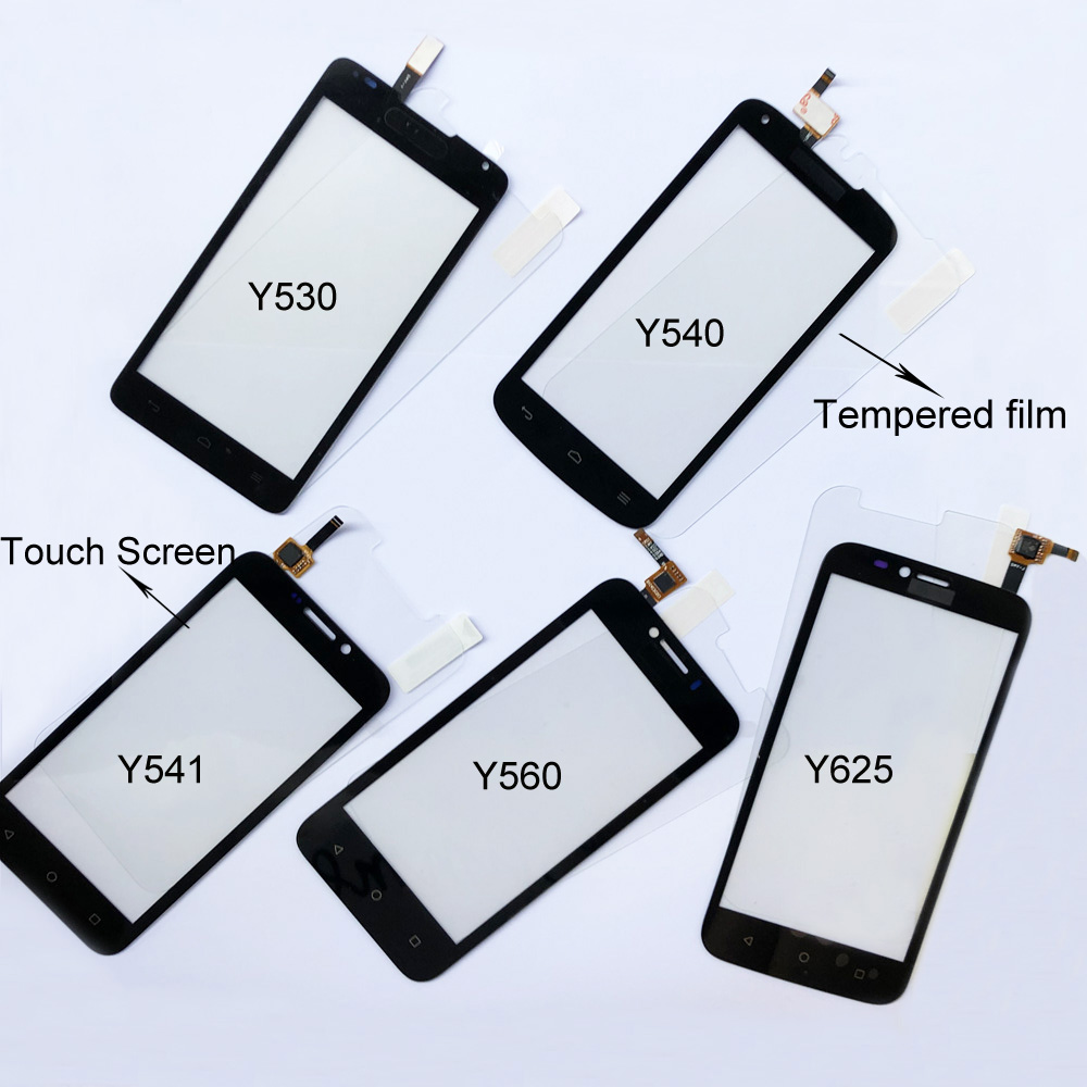 Touch Glass For Huawei Ascend Y530 Y540 Y541 Y560 Y625 Touch Screen Digitizer Pane Panel Replacement Free Tempered Glass Film
