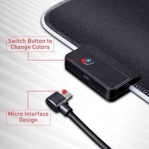 Image 5 - لوحة ماوس ألعاب HAVIT RGB USB LED 14 مجموعة من الأضواء لوحة مفاتيح مضيئة ممتدة بطانية غير قابلة للانزلاق بساط 350*250 و 800*300