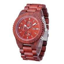 Брендовые роскошные часы с большим циферблатом для мужчин бамбуковые