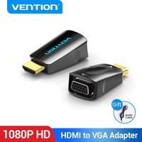 Convenio adaptador de HDMI a VGA HDMI macho a VGA de 15 pines adaptador hembra HD 1080P HD Cable de Audio para PC portátil caja de TV HDMI VGA convertidor