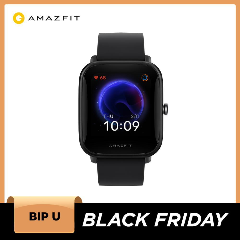 Amazfit Bip U Smartwatch 5ATM Water Resistant Color Display GLONASS Sleep Monitoring Sport Tracking for Android