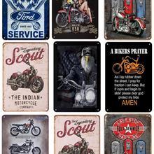Carteles de hojalata Vintage Ford placa Pin Up decoración Shabby Chic Metal Poster Pub Metal placa tienda garaje decoración 30x20cm
