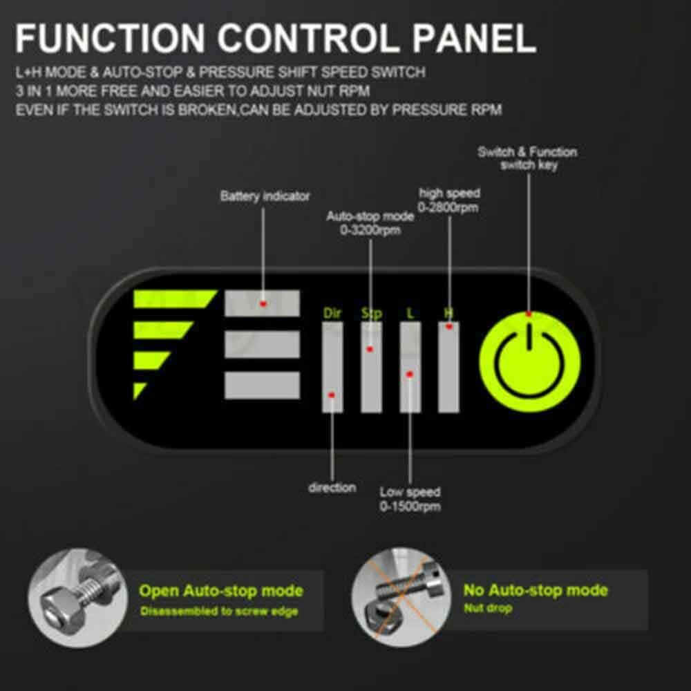Cuerpo del controlador de la llave de impacto inalámbrica 18V 520N 1/2in sin batería para Makita DTW285Z 100% nuevo y de alta calidad Dx-0408 18V 50W + 50W 2,0 canales Stk película gruesa serie amplificador de potencia