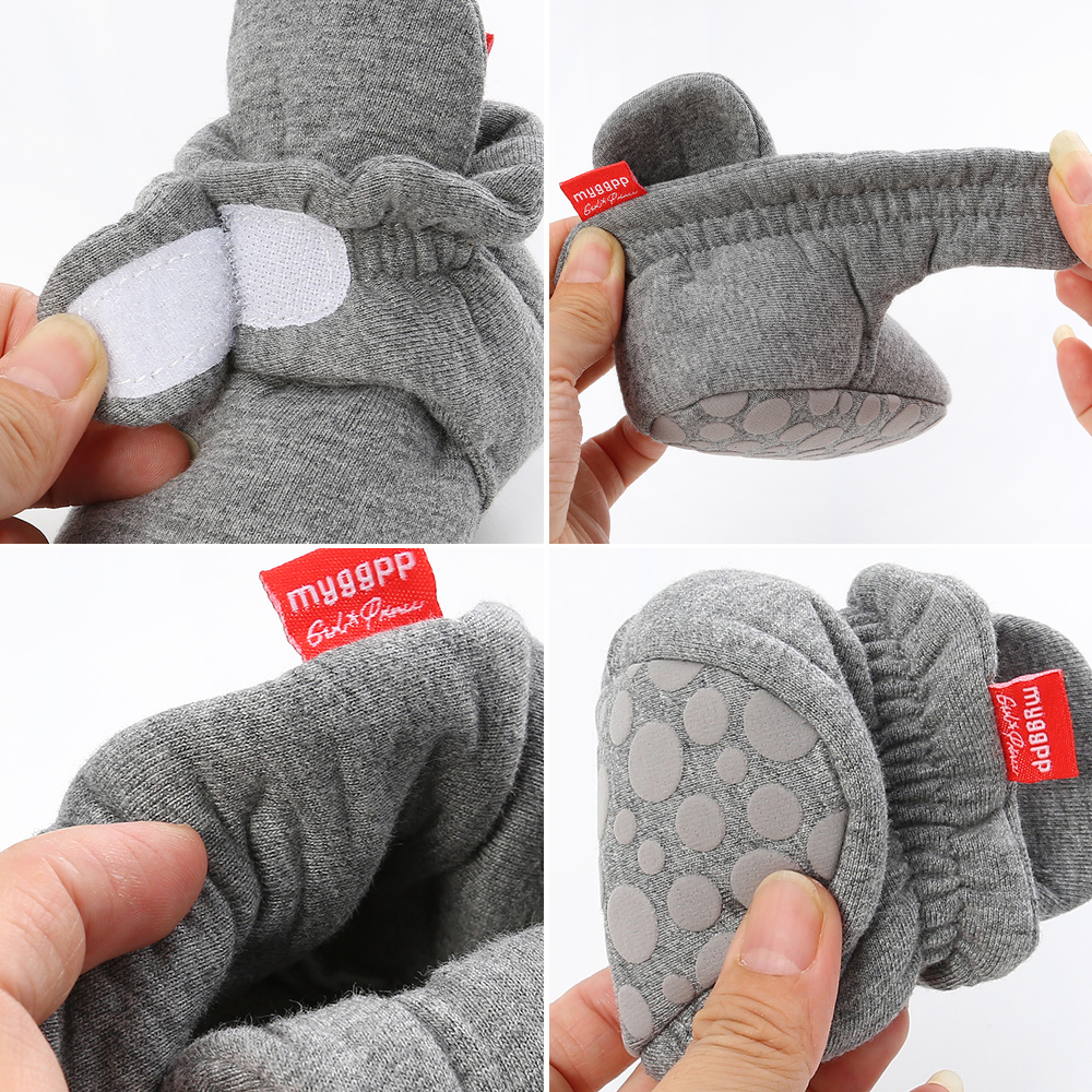 Newborn Baby Socks Shoes Boy Girl Star Toddler First Walkers Booties Cotton Comfort Soft Anti-slip Warm Infant Crib Shoes 5