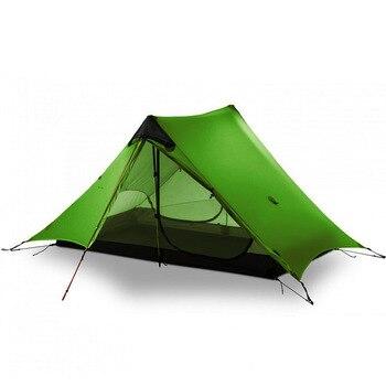 цена на LanShan 2 3F UL GEAR 2 Person  Outdoor Ultralight Camping Tent 3 Season Professional 15D Silnylon Rodless Tent 4 Season