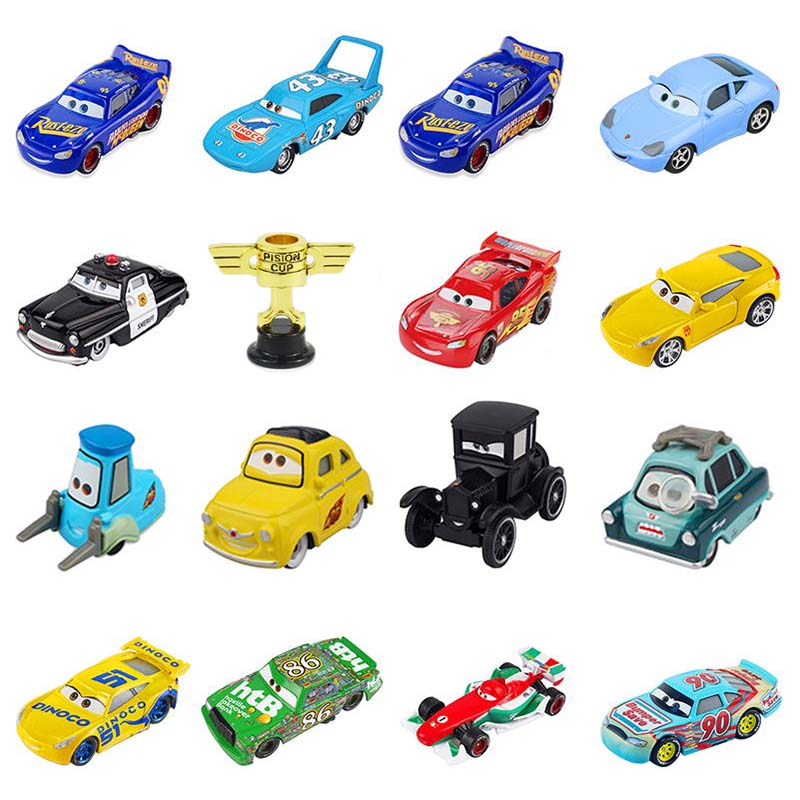 Disney Pixar Cars 3 2 Lightning McQueen Jackson Storm Cruz Model Car Metal Toys Christmas New Year Gift For Kids