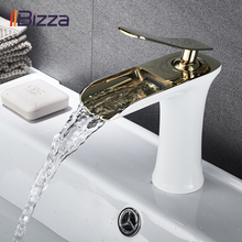 Basin Faucet Black Waterfall Bathroom Faucets Hot Cold Water Basin Mixer Tap Chrome Brass Toilet Sink Water Taps Crane Gold 1401