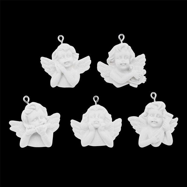 5pc blanc ange collier pendentif Bracelet bricolage enfant style Baroque ange accessoires bijoux bricolage accessoires mode boucles doreilles bricolage
